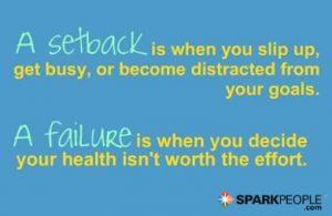 A Setback Vs a Failure Quote