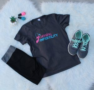 running with infertility exercise shirt