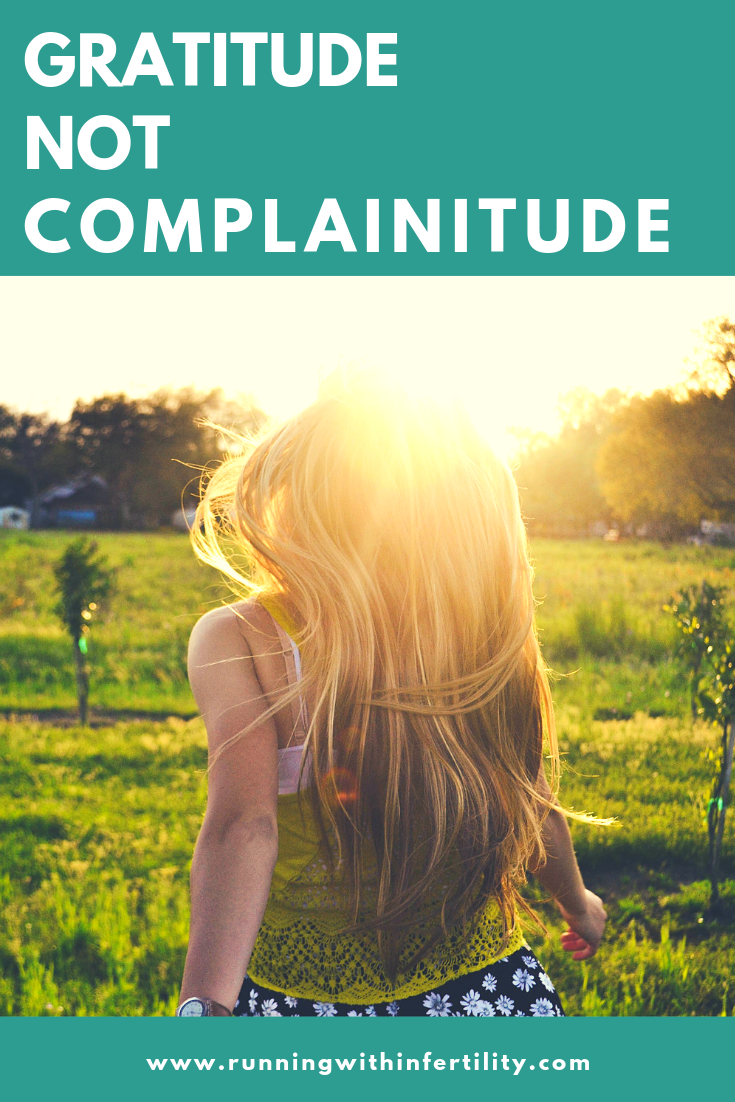Gratitude not complainitude blog post