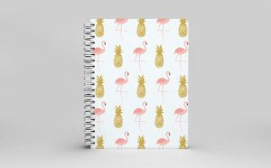 Thoughful Creations Flamingo Pineapple Journal