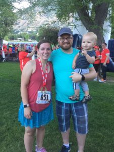 Chase, Kason and I at the 10k finish