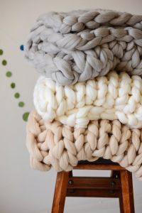 Chunky Wool Studio Chunky Knit Blanket