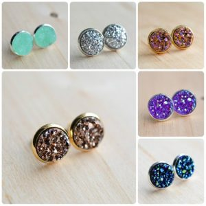 Designs by Kara Marie Druzy Stud Earrings