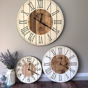 Rusty Star Sign Company Farmhouse Clock
