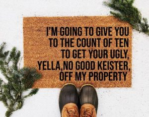 Sensibly Styled Home Funny Christmas Doormat
