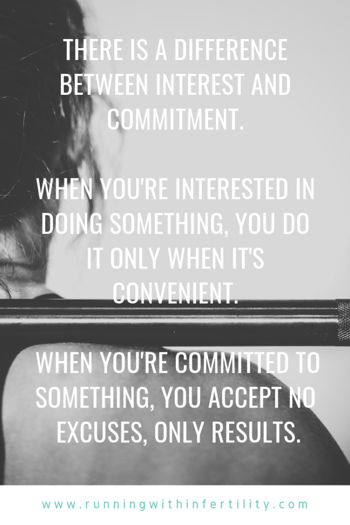 Difference between interest and commitment quote
