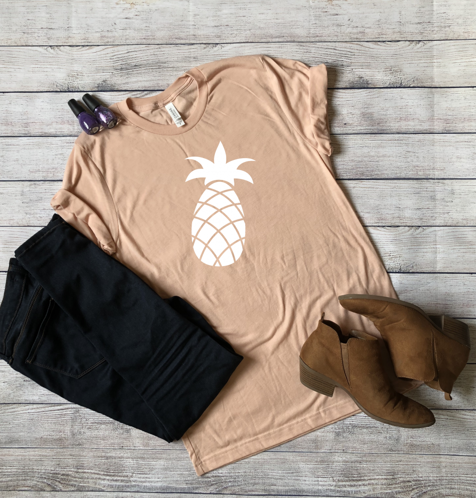 Peach Pineapple Shirt in My Etsy Shop