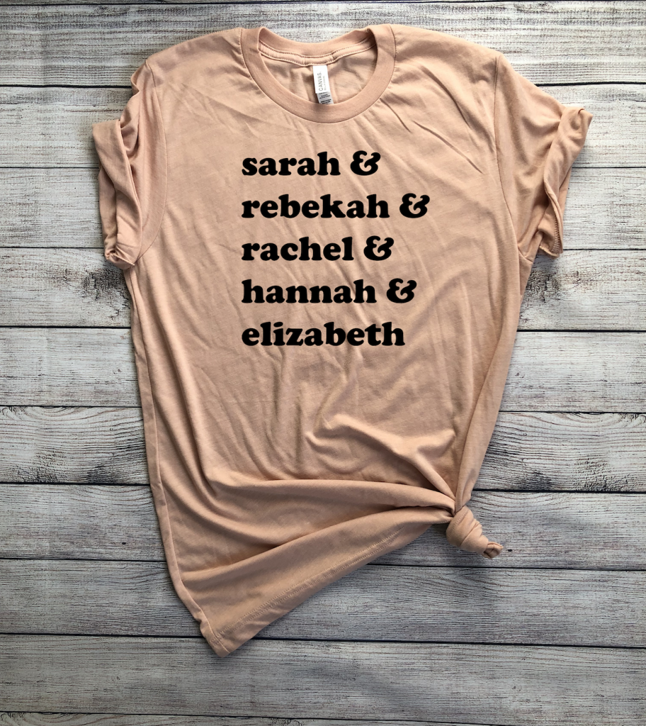 Barren Women of the Bible Screen Print Shirt