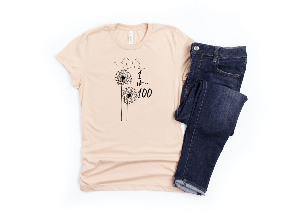 1 in 100 dandelion shirt recurrent miscarriage